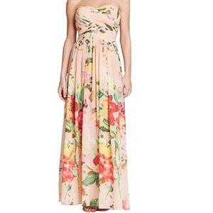 Prom Wedding Evening Chiffon Floral Dress